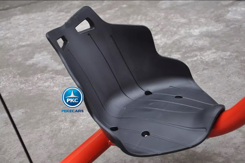 Kart eléctrico Power Drift Trike 12V Rojo vista del asiento