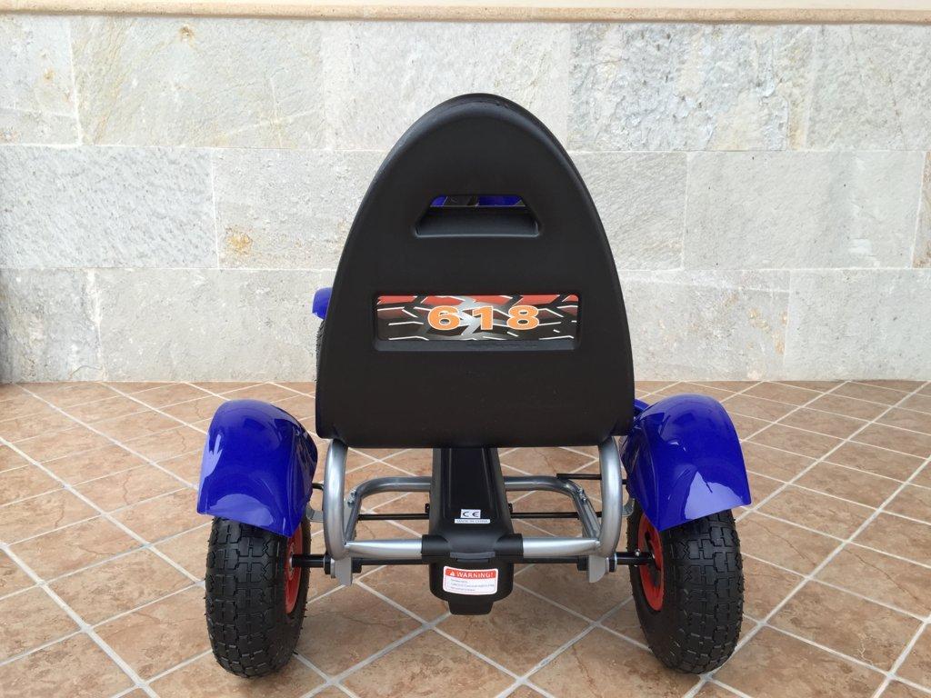 Kart a pedales Pekecars F618 Azul trasera