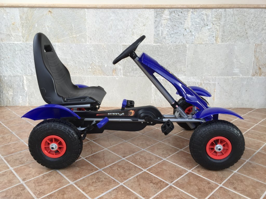 Kart a pedales Pekecars F618 Azul lateral
