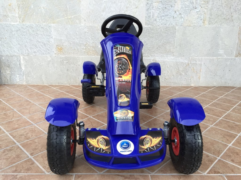 Kart a pedales Pekecars F618 Azul frontal