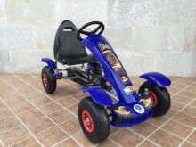 Kart a pedales Pekecars F618 Azul vista principal