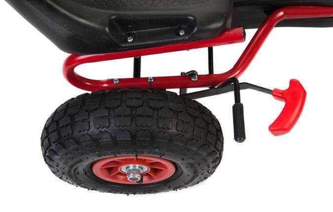 Kart de pedales A15 Rojo y Negro freno de mano
