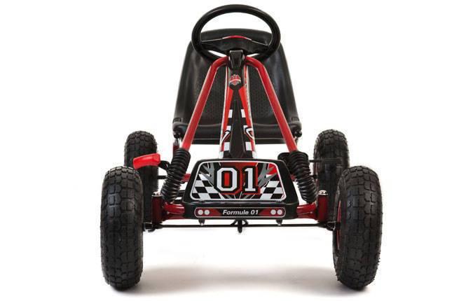 Kart de pedales A15 Rojo y Negro delantera