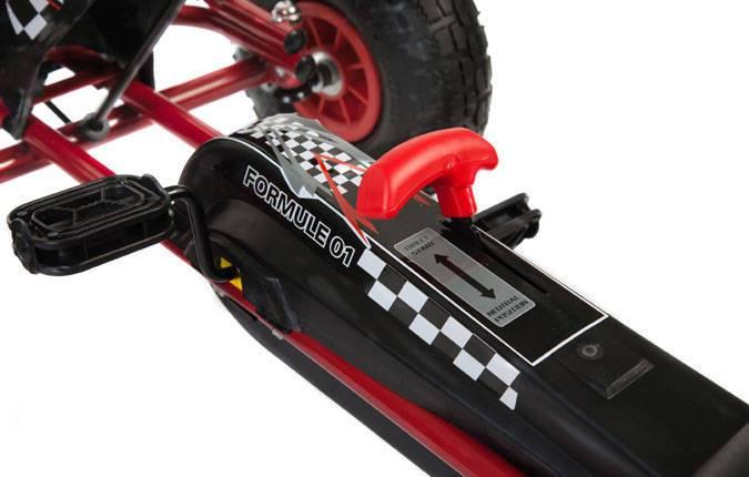 Kart de pedales A15 Rojo y Negro piñon libre