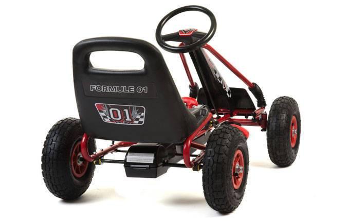 Kart de pedales A15 Rojo y Negro