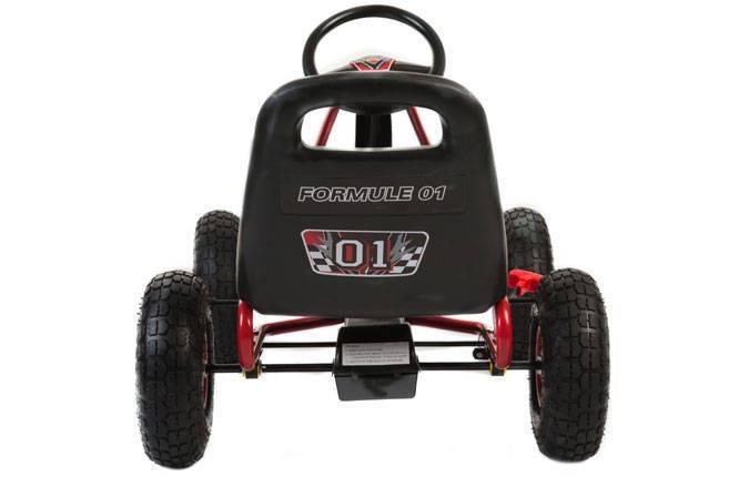Kart de pedales A15 Rojo y Negro trasera