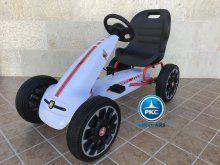 Kart a pedales Fiat Abarth Blanco vista principal