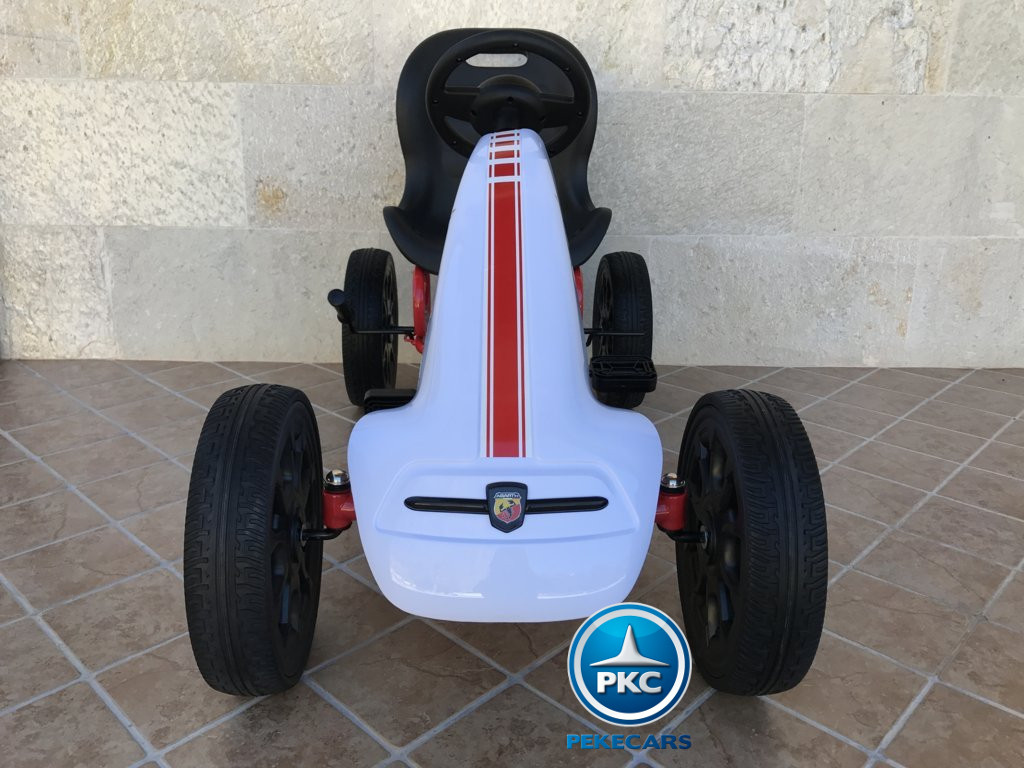 Kart a pedales Fiat Abarth Blanco frontal