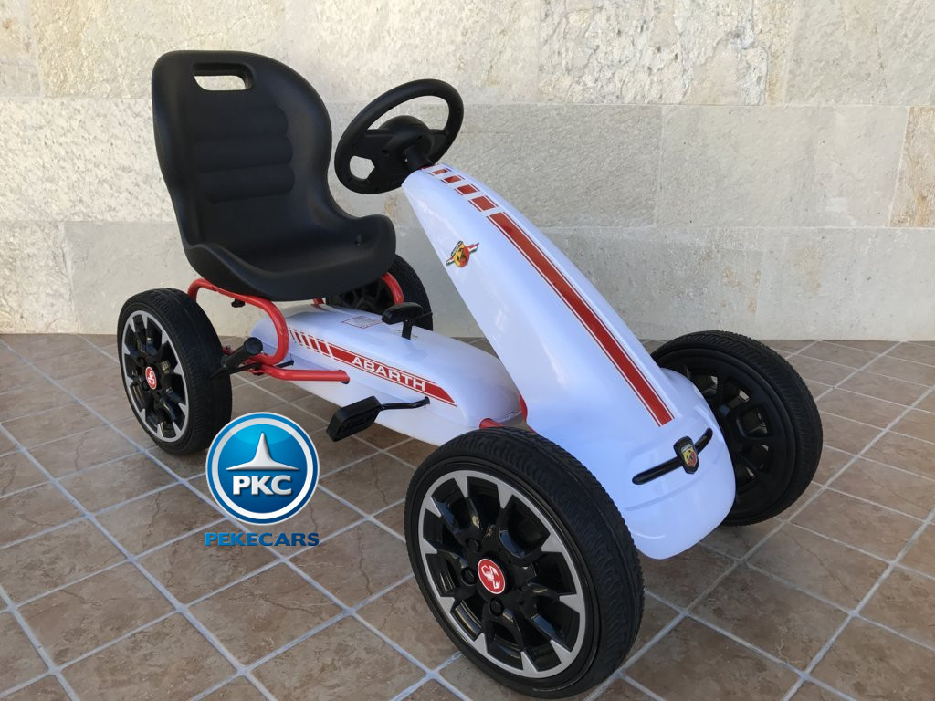 Kart a pedales Fiat Abarth Blanco