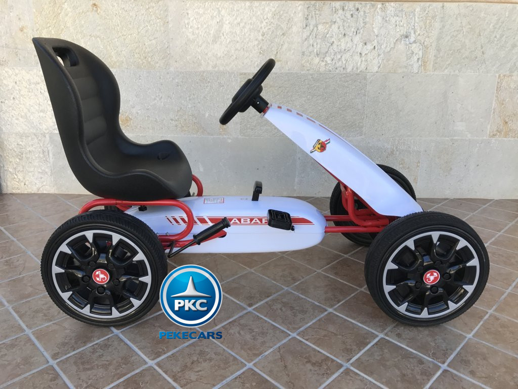 Kart a pedales Fiat Abarth Blanco lateral