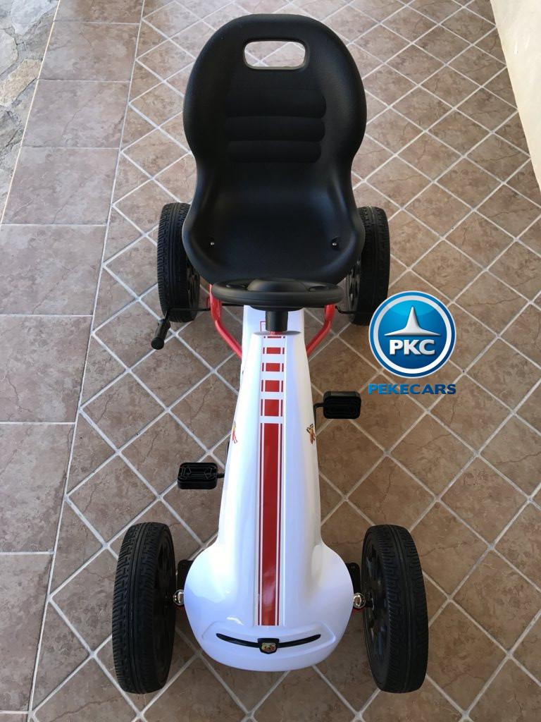 Kart a pedales Fiat Abarth Blanco de frente