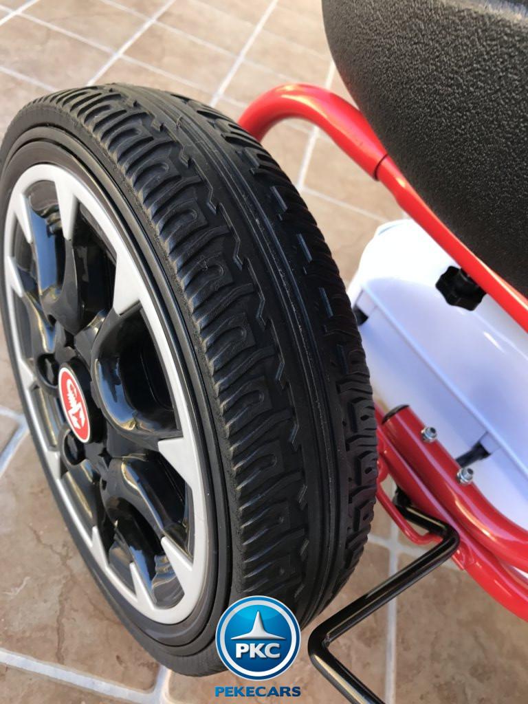 Kart a pedales Fiat Abarth Blanco ruedas de caucho