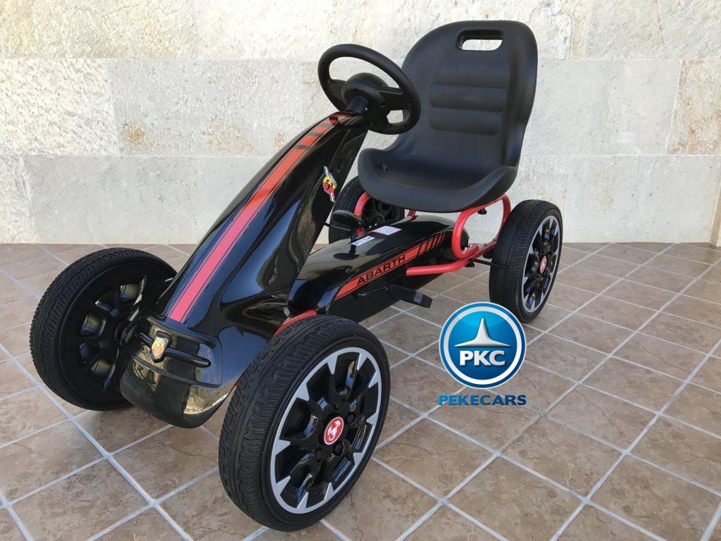 Kart a pedales Fiat Abarth Negro vista principal