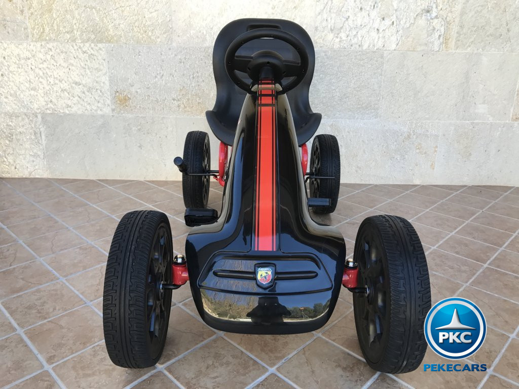 Kart a pedales Fiat Abarth Negro frontal
