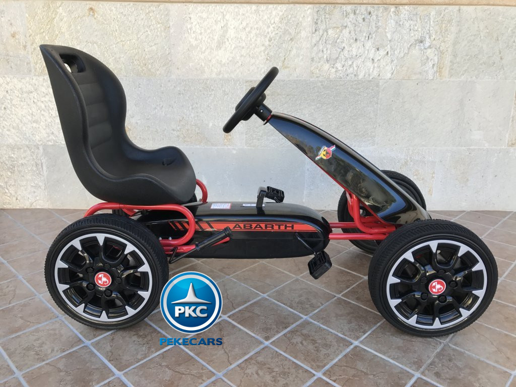 Kart a pedales Fiat Abarth Negro lateral