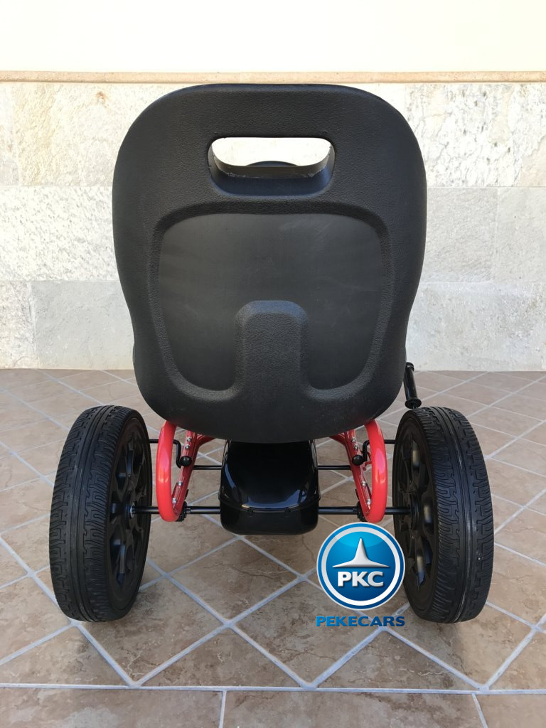 Kart a pedales Fiat Abarth Negro trasera