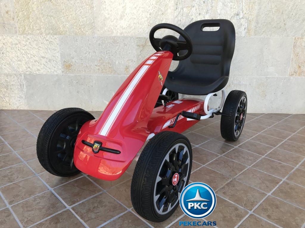 Kart a pedales Fiat Abarth Rojo vista principal