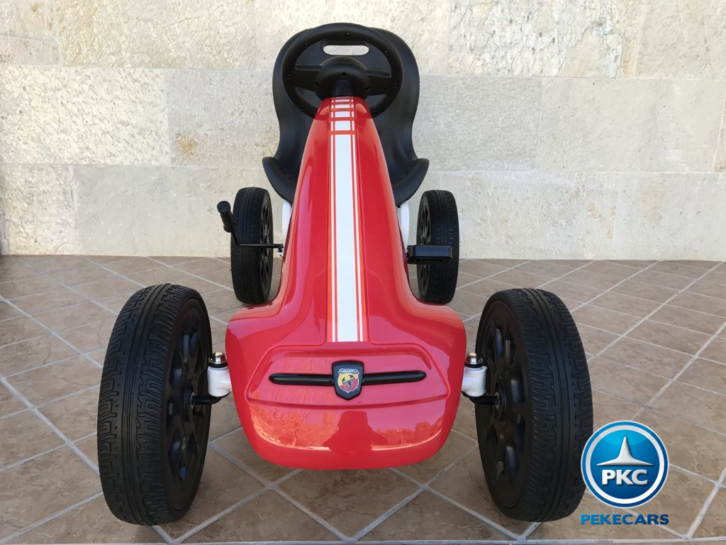 Kart a pedales Fiat Abarth Rojo frontal