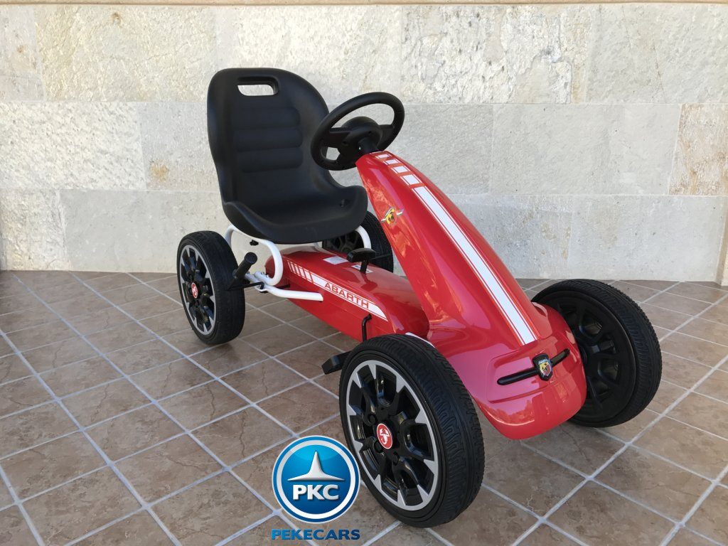 Kart a pedales Fiat Abarth Rojo