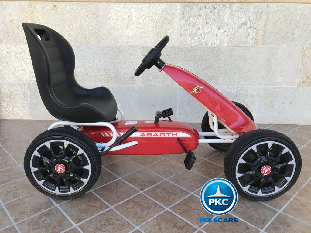 Kart a pedales Fiat Abarth Rojo lateral