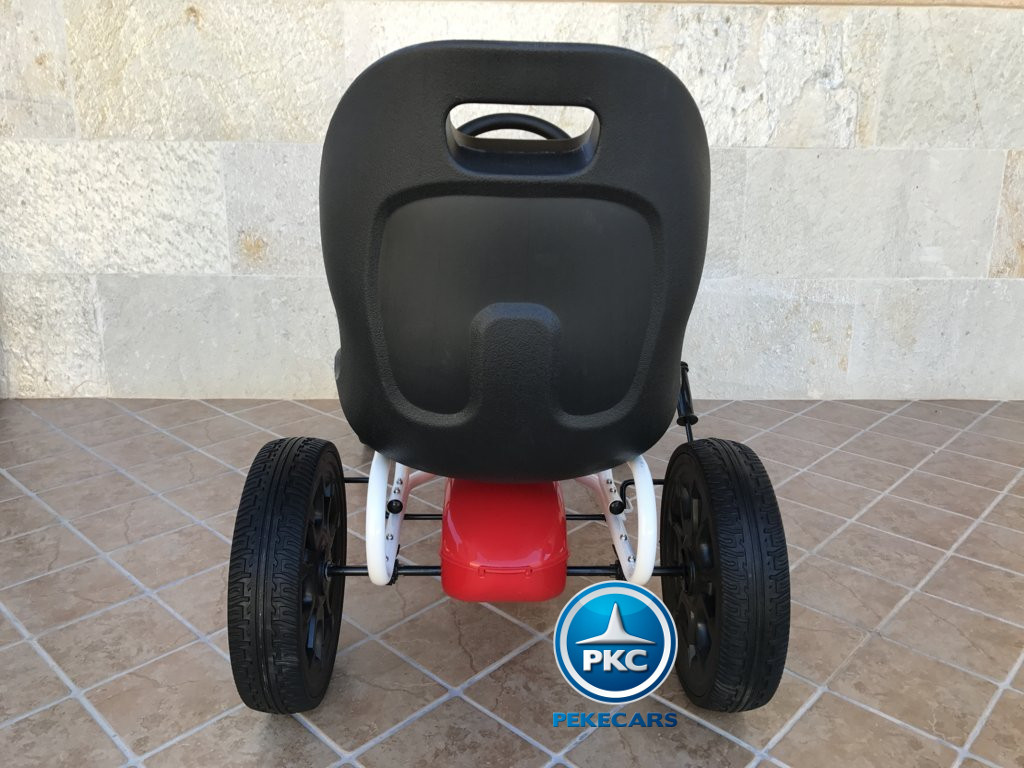 Kart a pedales Fiat Abarth Rojo trasera
