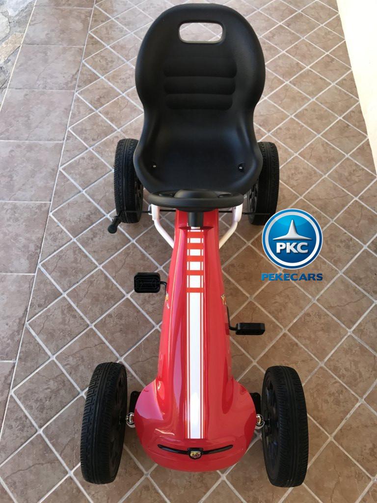 Kart a pedales Fiat Abarth Rojo de frente