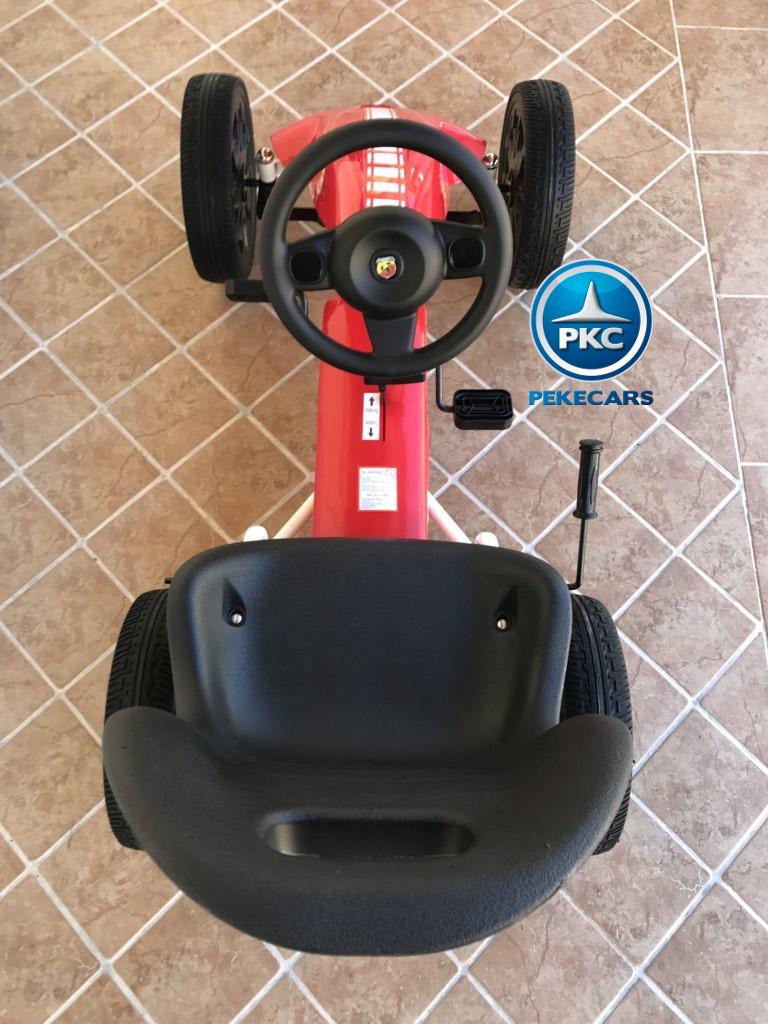 Kart a pedales Fiat Abarth Rojo desde arriba