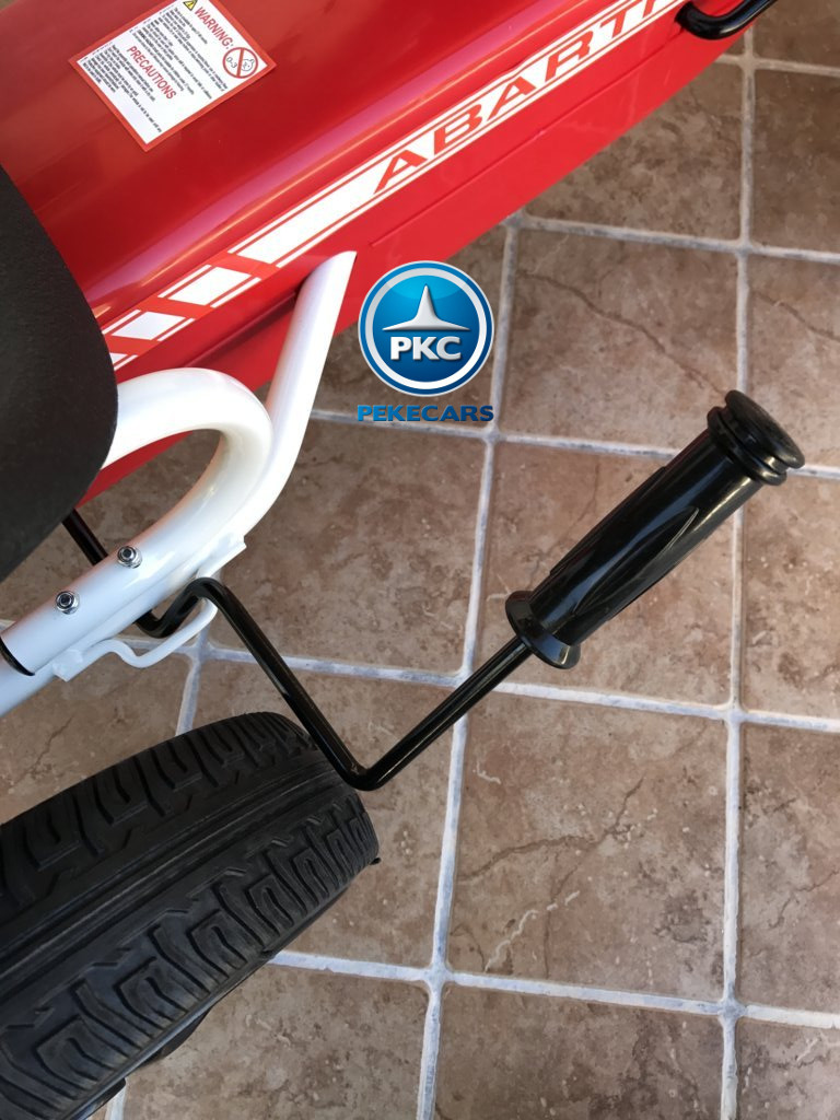 Kart a pedales Fiat Abarth Rojo freno de mano