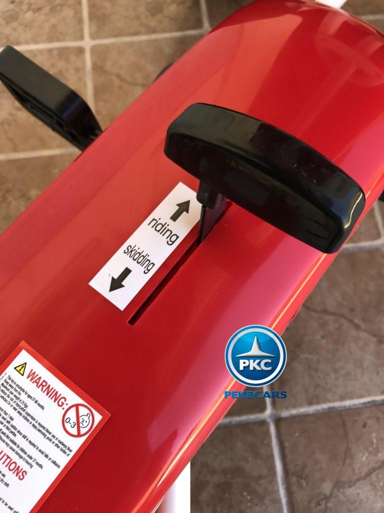Kart a pedales Fiat Abarth Rojo palanca de piñón libre