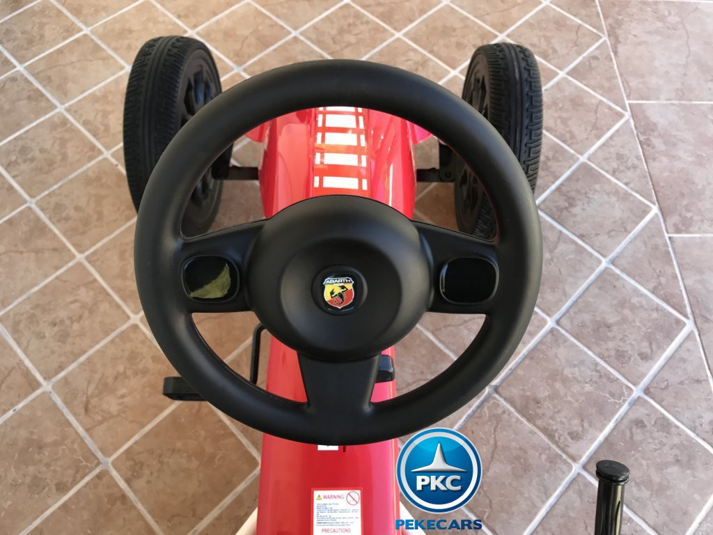 Kart a pedales Fiat Abarth Rojo volante