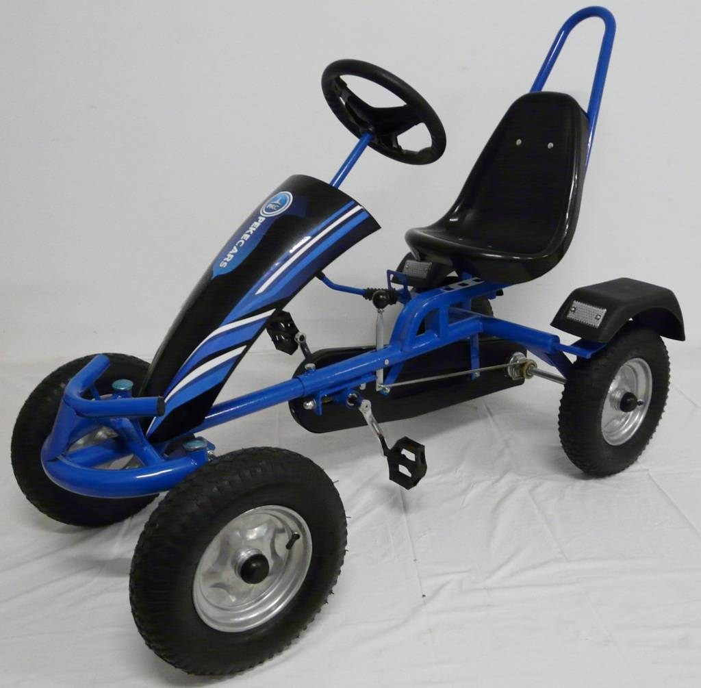 Kart a pedales sport azul Pekecars vista principal