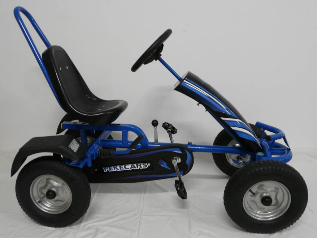 Kart a pedales sport azul Pekecars lateral