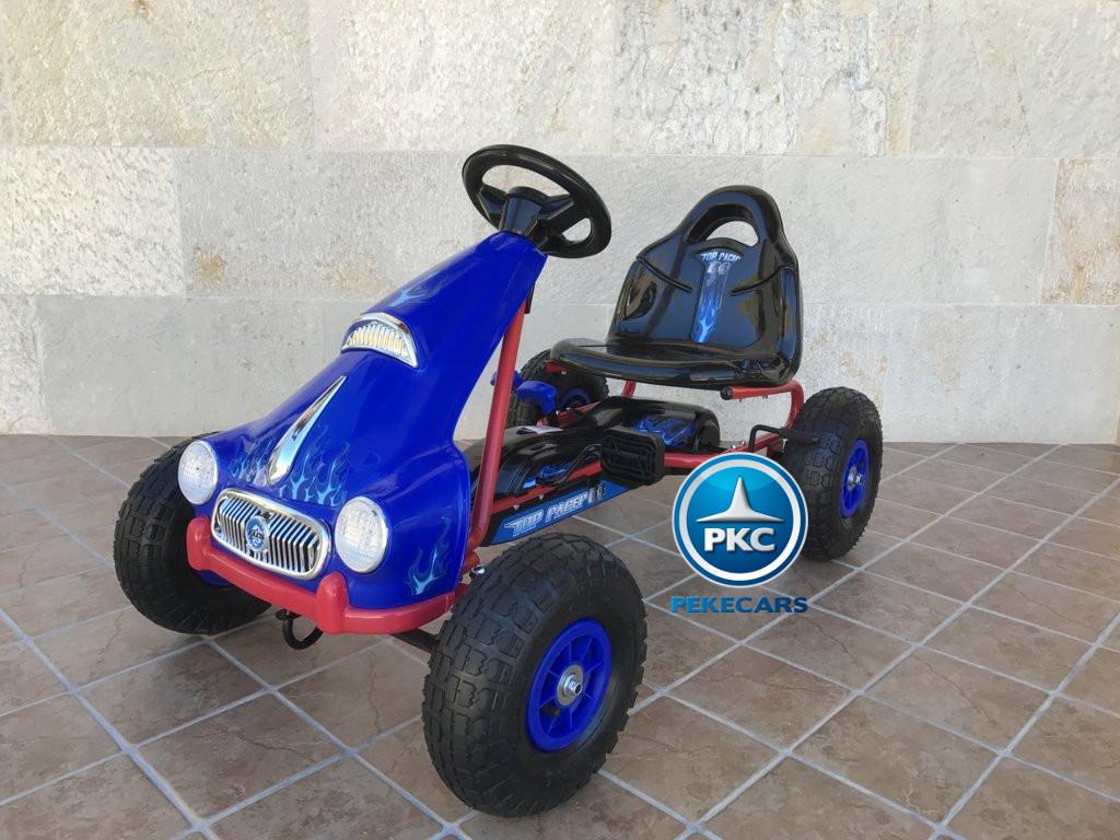 Kart a pedales Flame Azul vista principal