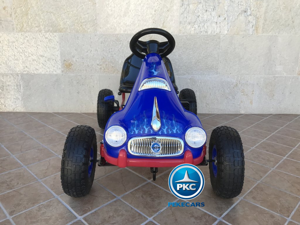 Kart a pedales flame azul frontal Pekecars