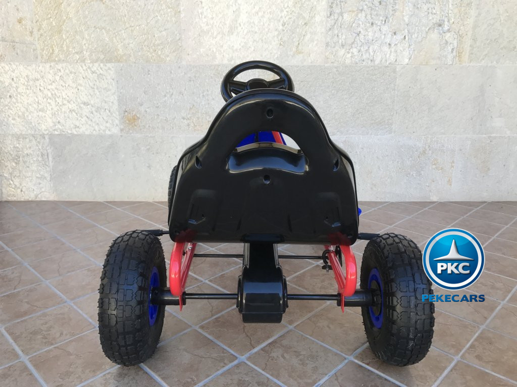 Kart a pedales Flame Azul trasera