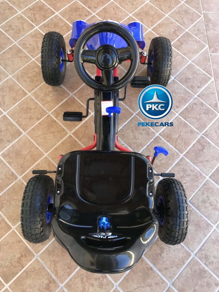 Kart a pedales Flame Azul desde arriba