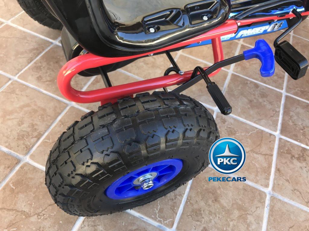 Kart a pedales Flame Azul ruedas neumáticas
