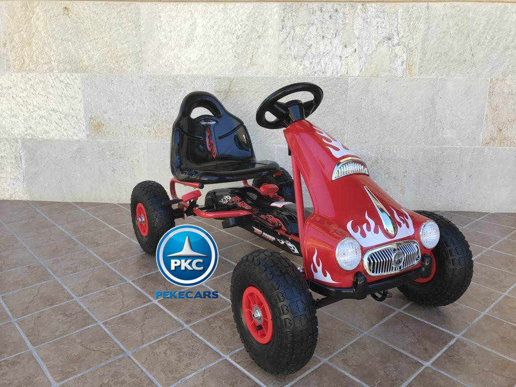 Kart a pedales Flame Rojo