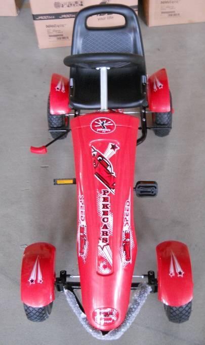 Kart a pedales sport medium rojo delantera