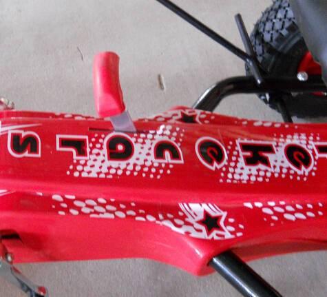 Kart a pedales sport medium rojo palanca cambio de piñón