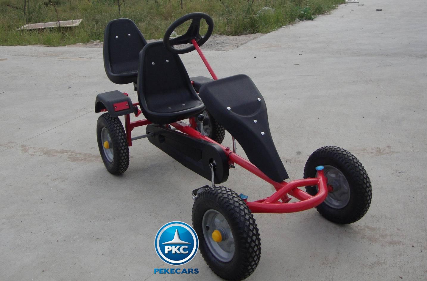 Kart de pedales sandbeach rojo vista principal