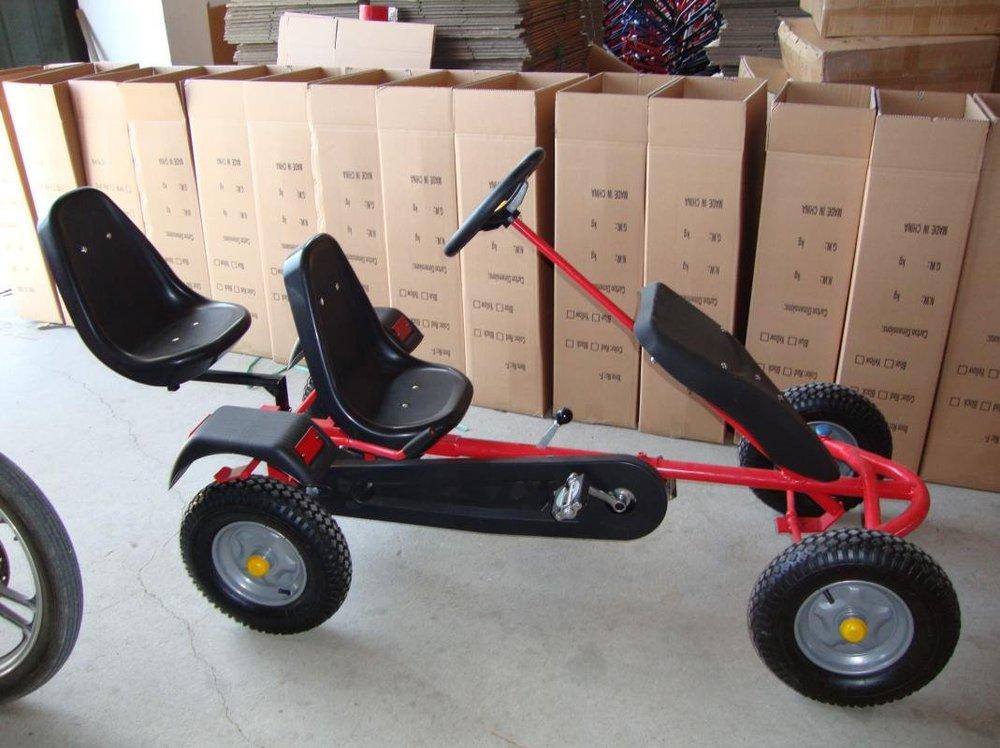 Kart de pedales sandbeach rojo lateral