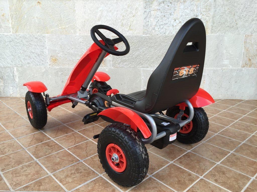 Kart a pedales Pekecars F618 Rojo
