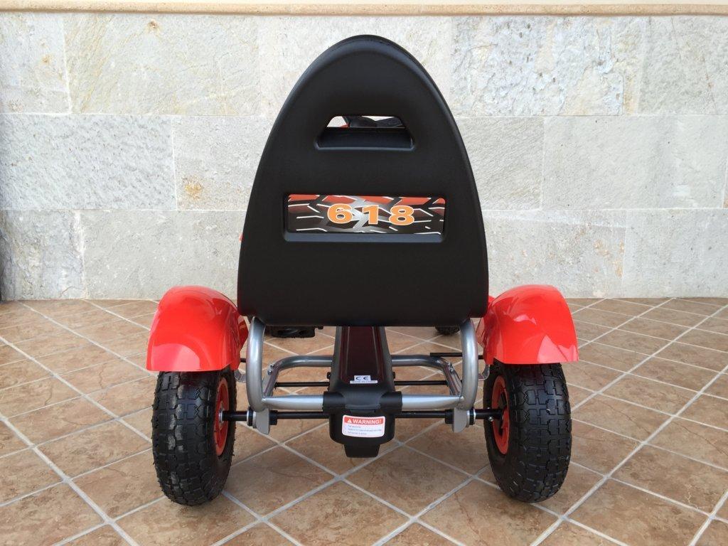 Kart a pedales Pekecars F618 Rojo vista trasera