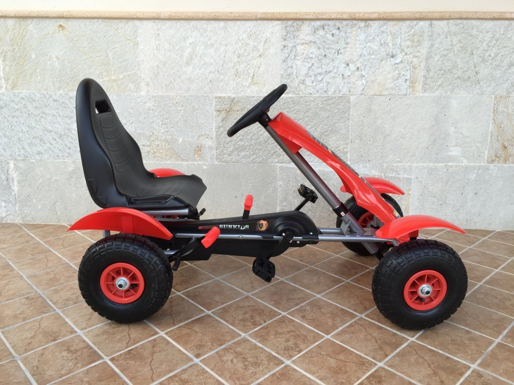 Kart a pedales Pekecars F618 Rojo lateral
