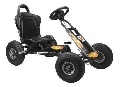 Pekecars karts a pedales infantiles air runner ar-1 negro fuego