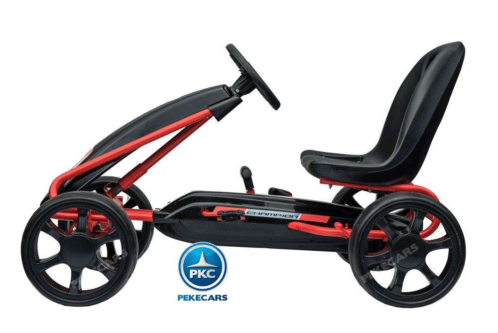 Kart a pedales Champion Black Edition lateral