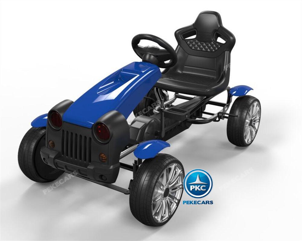 Kart a pedales infantiles HEX HC002 azul pintado