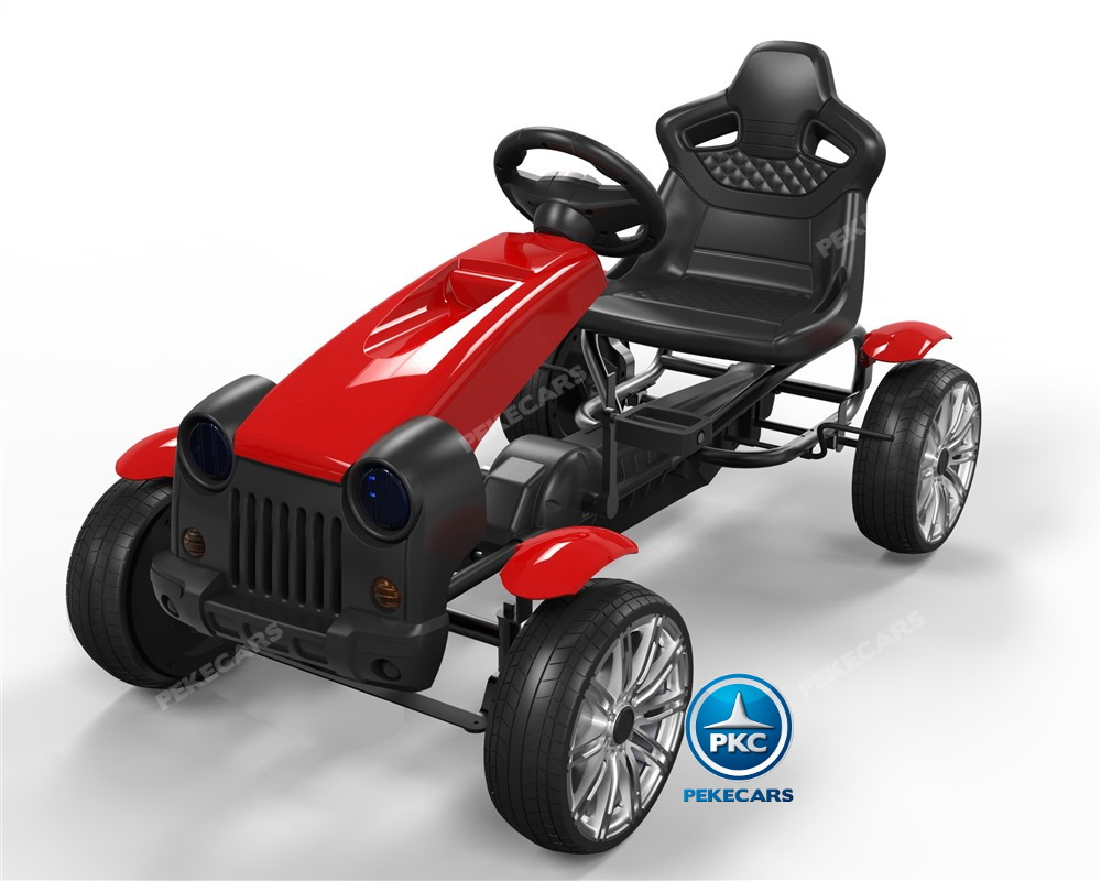 Kart a pedales infantiles HEX HC002 rojo pintado