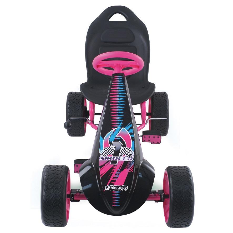 Kart a pedales Sirocco Rosa desde arriba